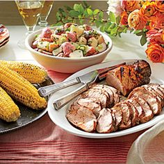 Grilled Pork Tenderloins with Corn on the Cob | MyRecipes.com; a bit too salty for my taste. Other than that; awesome!