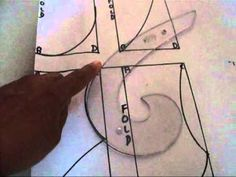 ▶ Neckline with French Curve - YouTube.  Drawing necklines with French Curve.  Just found out how to use this tool.  Love it!
