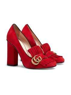 Sapato Gucci Suede Pump