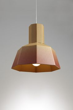 Cardboard suspension lamp from #Kubedesign collection - #cardboard architectures