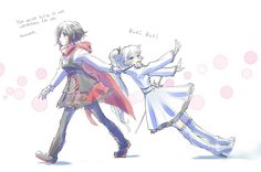 Ruby dragging away Weiss- White Rose