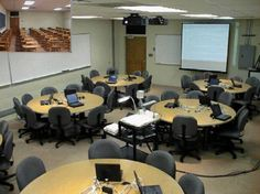 SCALE-UP classrooms of various sizes have been created across America - for images, equipment and layout, see the website http://www.ncsu.edu/PER/SCALEUP/Classrooms.html