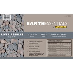 EARTHESSENTIALS BY QUIKRETE�0.5-cu ft River Pebbles