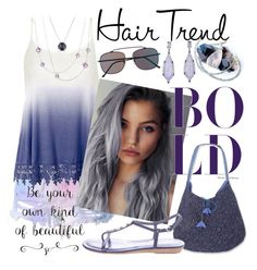 """Lavender Bold Hair Trend"" by mia-christine ❤ liked on Polyvore featuring beauty, Ally Fashion, Spitfire, David Yurman, NOVICA, Tod's, hairtrend and rainbowhair"