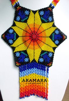 Your place to buy and sell all things handmade Star Necklace, Beaded Necklace, Beadwork Designs, Cogs, Bead Art, Culture, Stars, How To Make, Unique