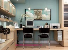 as ive already stated before fresh flowers and bright colors help you stay focused while working in your very own home office this home office looks very best office paint colors