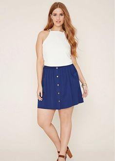 LA MODA ME ENAMORA : 17 faldas con botones ¡irresistibles!