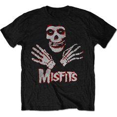 The Misfits Men's Tee: Hands Wholesale Ref:MISTS07MB