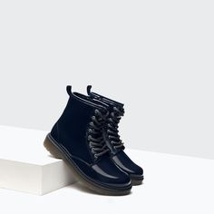 LACE - UP PATENT BOOTIES - Shoes - Girl (4 - 14 years) - KIDS | ZARA United States