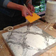 DIY Tutorial - Textured Plaster Canvas with Raised Stencil Technique