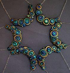 Peacock Bubble Necklaces by MandarinMoon