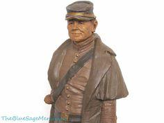 "Tom Clark CONFEDERATE SOLDIER 14.5"" tall Resin Civil War Sculpture Figure nice!"