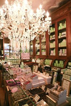Laduree, Paris France.  maker of luxury cakes and pastries. It is known as the inventor of the double-decker macaron, fifteen thousand of which are sold every day. They are still one of the best known makers of macaroons in the world....one day:)