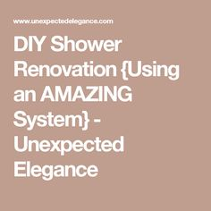 If you want to renovate your shower but aren't an expert, check out this DIY Shower Renovation! The Schulter Kerdi shower system makes the job a whole lot easier. Shower Pan, Diy Shower, Pipe Shelves, Shower Systems, Bath Ideas, Remodeling Ideas, Motorhome, Rv, Tile