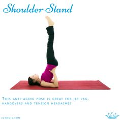 From knees to chest position above, support your low back with both hands, then engage the belly to draw legs over head and then slowly towards the sky one by one. Keep your abs, back and hips engaged as you fully extend legs to sky keeping feet flexed and leg muscles firm. Keep neck stationary at all times, do not look around. Hold for 10 breaths. Release slowly by bringing legs over head and rolling out one vertebrae at a time. Return to knees to chest position to stabilize the back…
