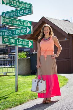 Our Colorblock Maxi on Sharing My Sole!