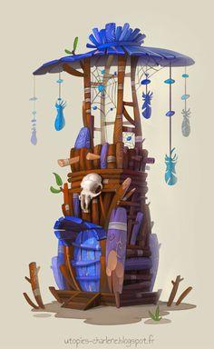Dreamcatcher Tower, Charlène Le Scanff (AKA Catell-Ruz) on ArtStation at https://www.artstation.com/artwork/dreamcatcher-tower