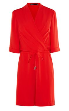 Pin for Later: Jump Into One of These 50 Jumpsuits and Playsuits This Wedding Season! Sequin Playsuit, Red Playsuit, Denim Playsuit, Wrap Jumpsuit, Wrap Dress, Playsuits, Jumpsuits, Karen Millen, Dresses For Work