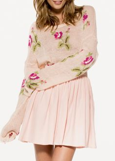 [US$29.99] - Flowers Ripped Loose Sweaters : ThatsPoint.com