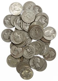 Lot 13: Washington 25c Silver Assortment; $10.00 face value US 90% silver