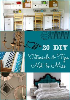 20 DIY Tutorials & Tips Not to Miss