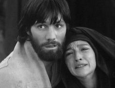 """Jesus of Nazareth"" (1977) Franco Zeffirelli; John Duttine (John the Evangelist) and Olivia Hussey (Mary)"