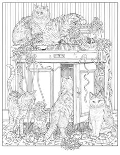 Francine's Cat Coloring Book for Adults, Francine van Westering