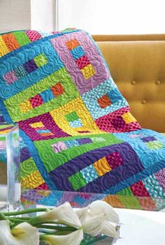 McCalls Quick Quilts Friday Freebie: Peas in a Pod - shorten a bit for lap size