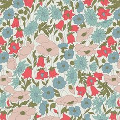 nouveau coloris Liberty Poppy and Daisypour la blouse Carme? Motif Liberty, Liberty Fabric, Liberty Print, Motif Design, Pattern Design, Textures Patterns, Fabric Patterns, Iphone Wallpapers, Flower Power