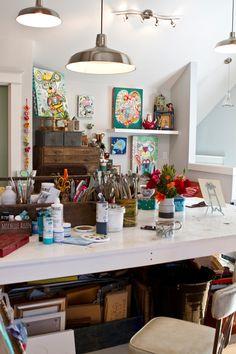 Nice My Home Art Studio Tour | Allen Designs Studio