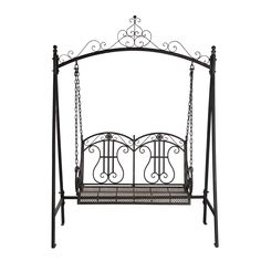 Marquee Rustic Iron Tree Surround Bench I/N 3191362 ...
