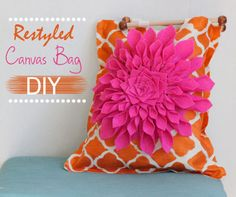 Lana Red: Restyled Canvas Bag