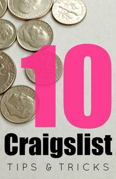 10 Craigslist Tips & Tricks: How to find the best stuff & save money. There are some really great tips in this!