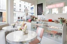 Primrose perfect - a little bakery in the UK I have just discovered called Primrose Bakery.  I find myself wanting a shop just like it...