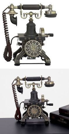 Home Telephones: Urban Designs Antique Reproduction Aristocrat Cradle Push Button Telephone -> BUY IT NOW ONLY: $154.99 on eBay!