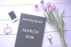 Mijn maanddoelen voor maart 2016