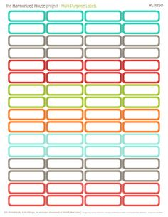 Free Printable Label Templates Unique Home Finance Printables the Harmonized House Project Printable Planner Stickers, Printable Labels, Free Printables, Printable Worksheets, Free Label Templates, Personalized Stationery, Planner Organization, Blog, Label Design