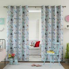 Alphabet Room Darkening Blackout Grommet Curtain Panel Pair - Overstock™ Shopping - Great Deals on Curtains