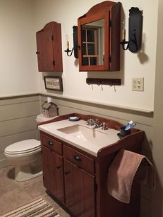 Recycle bathroom in barn home