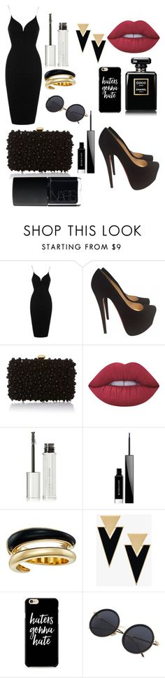 """Sem título #388"" by bia-melo ❤ liked on Polyvore featuring Topshop, Christian Louboutin, Elie Saab, Lime Crime, Givenchy, Michael Kors, Yves Saint Laurent and NARS Cosmetics"