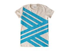 Broken Aqua Zigzag T-Shirt by jessalinb on Etsy
