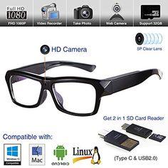3f4a003669 Video Glasses Hidden Camera - Camera Glasses 1080p - Eye Glasses with Camera  - Spy Camera