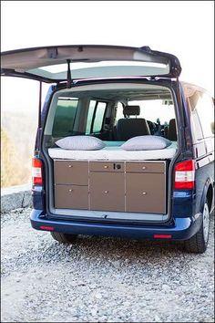 Küche SOULBOXX (Campingküche, Heckküche, Multiflexbord) für VW T5 Multivan (Caravelle, Transporter)