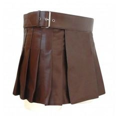 New-Leather-Kilt-Men-Kilt-Scottish-Brown-utility-highland-gladiator-Viking #WomensLeatherKilt #LeatherUtilityKilt #FashionKilt