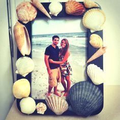 Sea shells. Crafts. DIY. Picture frame.