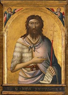 'St. John the Baptist', Jacopo del Casentino and assistant, c. 1330, El Paso Museum of Art