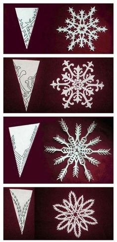 perfect snowflake cutouts