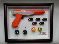 Emergency Kit - Handcrafted - Nintendo Zapper - Bullet Bill Ammo - Bob-Omb - Power Up Mushroom - Mushroom - Retro- Orange Video Game Organization, Video Game Storage, Video Game Decor, Video Game Rooms, Nerd Room, Gamer Room, Nintendo Room, Man Cave Games, Game Room Decor