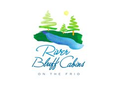 River Bluff Cabins - Logo for a retreat place (for family, bike enthusiast, bird watchers and more!) with wonderful cabins ON THE FRIO.
