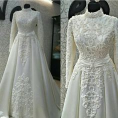 Dress #GOALS Muslimah Wedding Dress, Modest Wedding Gowns, Muslim Wedding Dresses, Stunning Wedding Dresses, Modest Dresses, Bridal Dresses, Beautiful Dresses, Girls Dresses, Hijabi Wedding